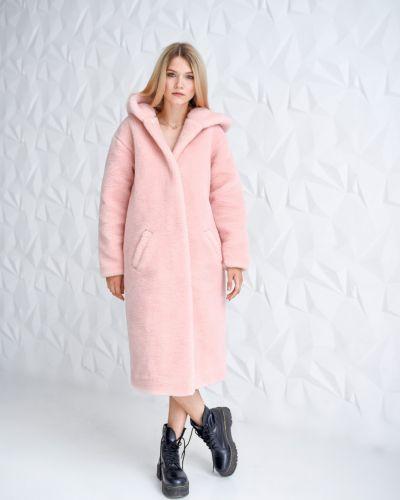 Шуба из овчины - розовая Rozetka