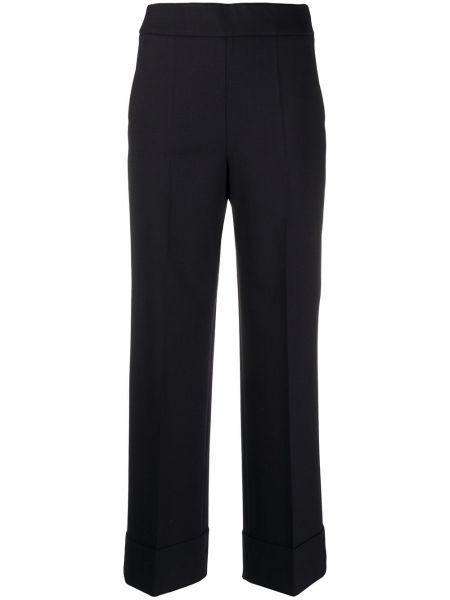 Синие деловые укороченные брюки с карманами свободного кроя Incotex