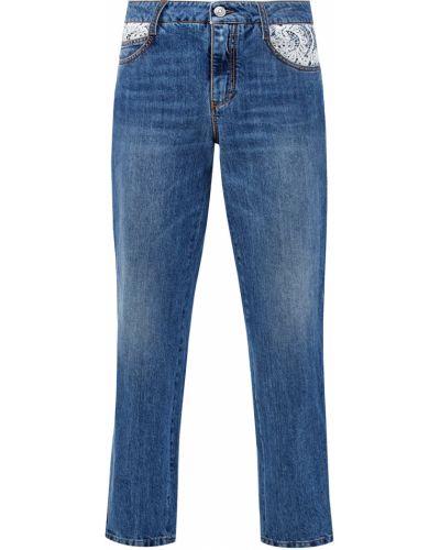 Деловые джинсы с нашивками с карманами из плотной ткани Ermanno Scervino
