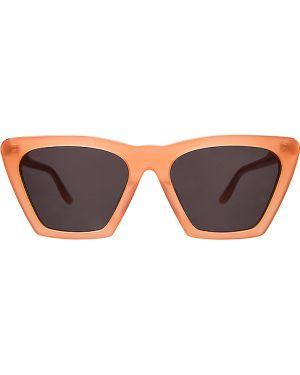 Pomarańczowe okulary skorzane Illesteva
