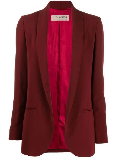 Прямой удлиненный пиджак с карманами с воротником Blanca