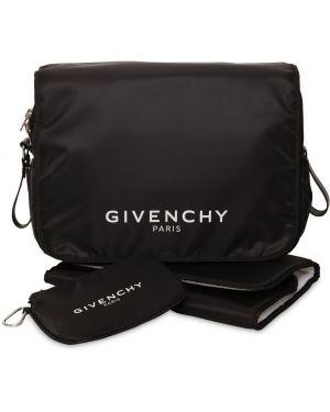 Czarna torebka bawełniana z printem Givenchy