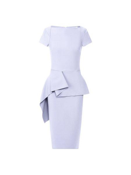 Синее платье из вискозы с подкладкой Roland Mouret