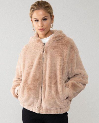 Джинсовая куртка с мехом - бежевая Lefties