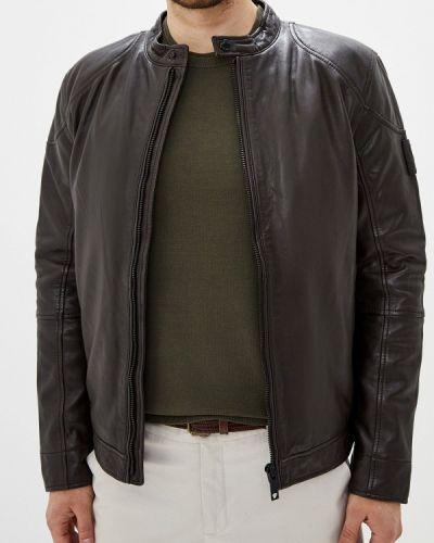 Кожаная куртка осенняя осенний Strellson