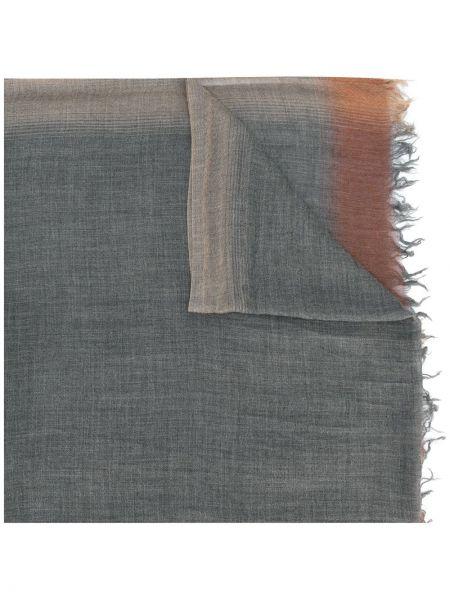 Серый кашемировый шарф с бахромой Fashion Clinic Timeless