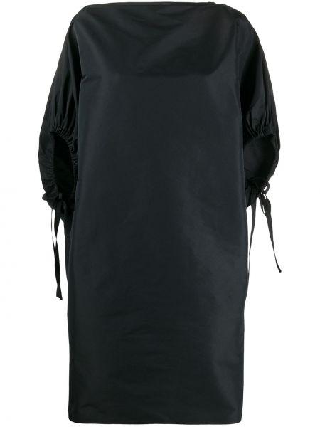 Платье мини прямое черное N21