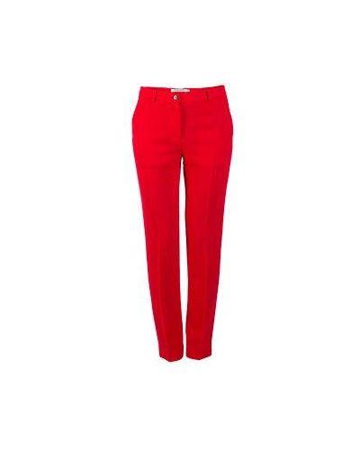 Шерстяные брюки - красные Piccione•piccione
