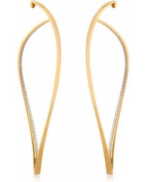 Białe złote kolczyki sztyfty z diamentem Antonini