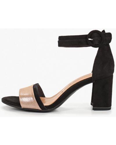 Босоножки на каблуке черные Tamaris