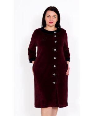 Халат велюровый на пуговицах Lika Dress