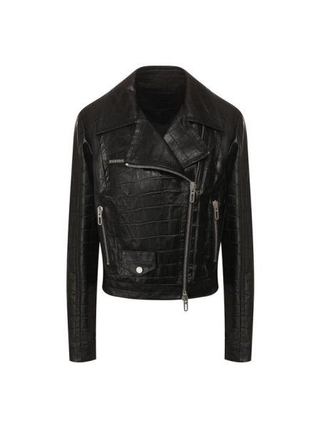 Кожаная куртка черная джинсовая Drome