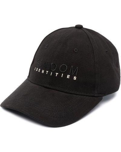 Czarny bawełna czapka baseballowa z haftem Random Identities