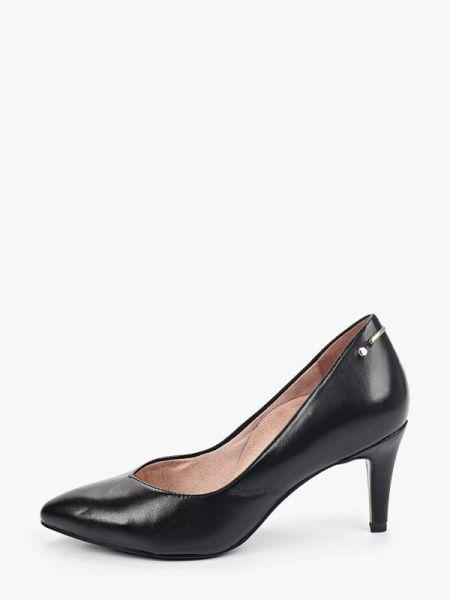 Черные кожаные туфли из искусственной кожи Heart & Sole By Tamaris
