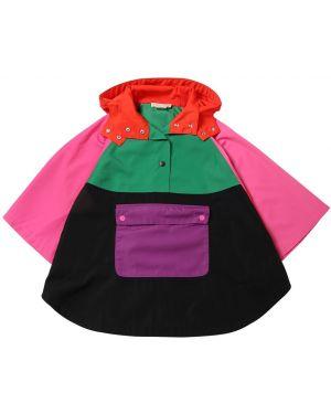 Płaszcz na przyciskach z kapturem Stella Mccartney Kids
