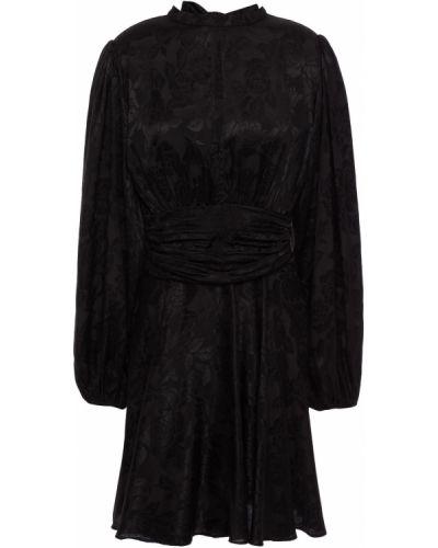 Czarna satynowa sukienka Bytimo