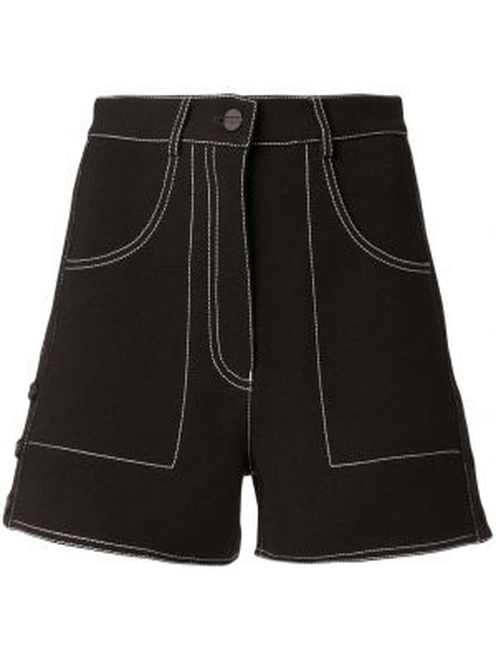 Черные шорты с карманами на пуговицах Dion Lee