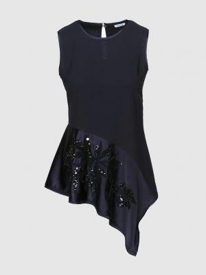 Синяя блузка с вышивкой P.a.r.o.s.h.