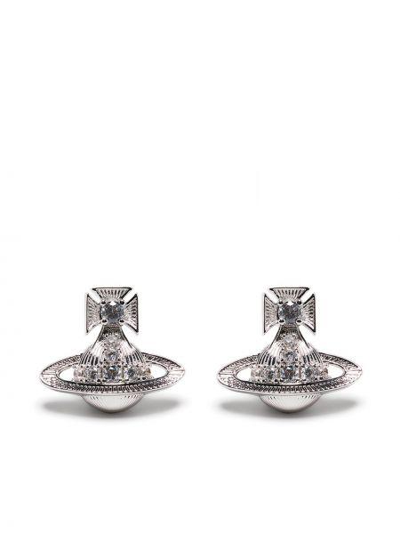 Серьги серебристые - серебряные Vivienne Westwood