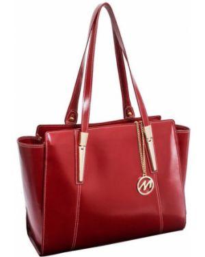 Czerwona torebka skórzana Mcklein