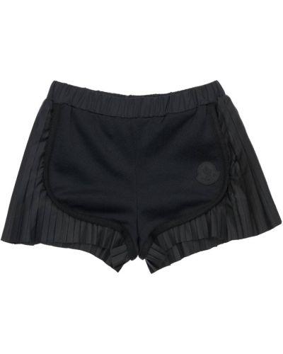Bawełna bawełna czarny szorty na gumce Moncler