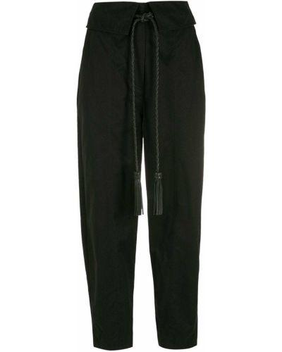 Хлопковые зауженные черные брюки НК