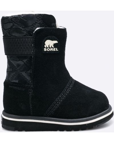 Черные сапоги текстильные Sorel