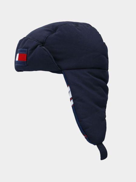 Флисовая шапка - синяя Tommy Hilfiger