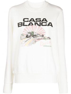 Хлопковый свитшот - белый Casablanca