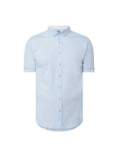 Niebieska koszula krótki rękaw bawełniana Desoto
