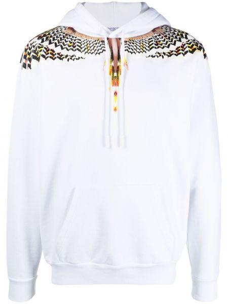 Biała bluza długa z kapturem bawełniana Marcelo Burlon County Of Milan