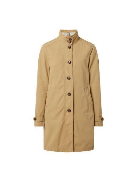 Beżowy płaszcz bawełniany zapinane na guziki Camel Active