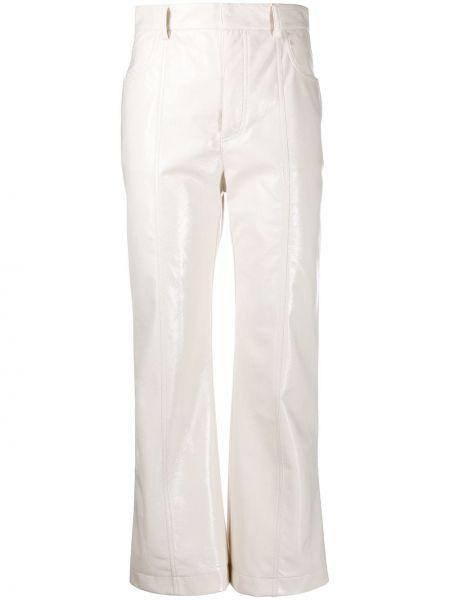 Белые брюки с высокой посадкой из вискозы с потайной застежкой Philosophy Di Lorenzo Serafini