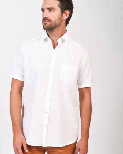 Хлопковая с рукавами белая рубашка Calamar