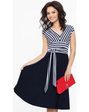 Платье с поясом винтажная платье-сарафан Dstrend