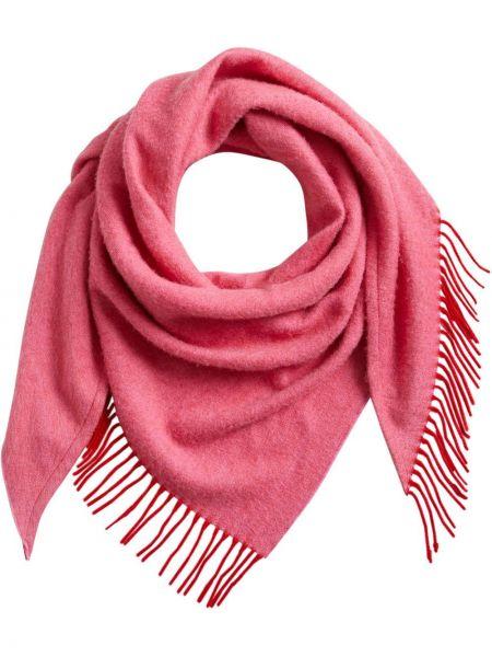 Кашемировый красный платок с кисточками Burberry