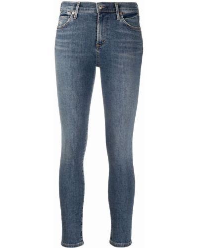 Хлопковые синие укороченные джинсы на пуговицах Citizens Of Humanity