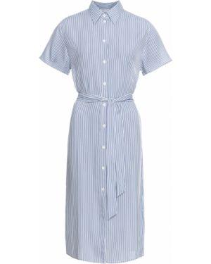 Платье с поясом на пуговицах платье-рубашка Bonprix