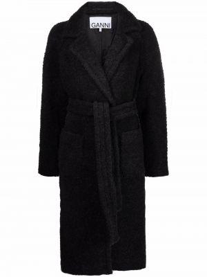 Długi płaszcz wełniany Ganni