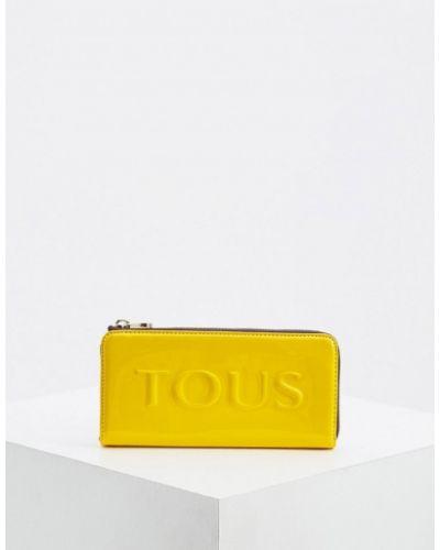 Кошелек из полиуретана - желтый Tous