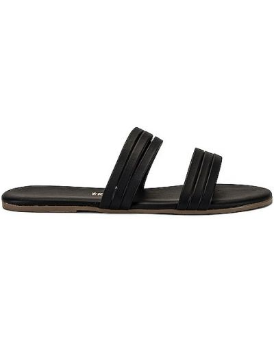Czarne sandały na lato Tkees