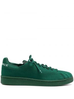 Zielone sneakersy skorzane sznurowane Adidas By Pharrell Williams