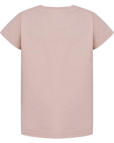 Розовая хлопковая футболка Molo