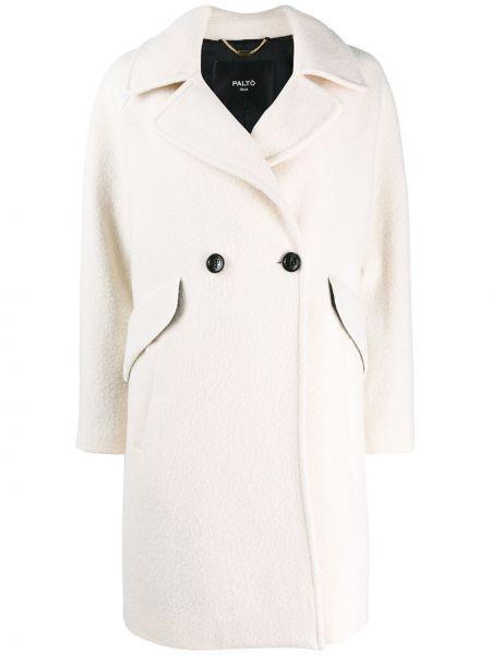 Klasyczny płaszcz wełniany z długimi rękawami Palto