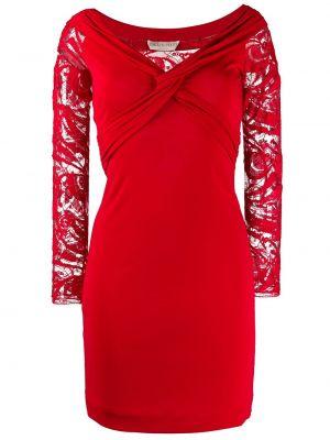 Красное ажурное платье на молнии со спущенными плечами Emilio Pucci Pre-owned