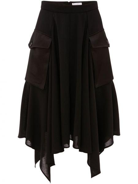 Асимметричная юбка - черная Jw Anderson
