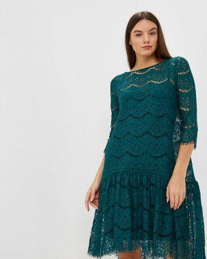 Вечернее платье осеннее зеленый Aelite