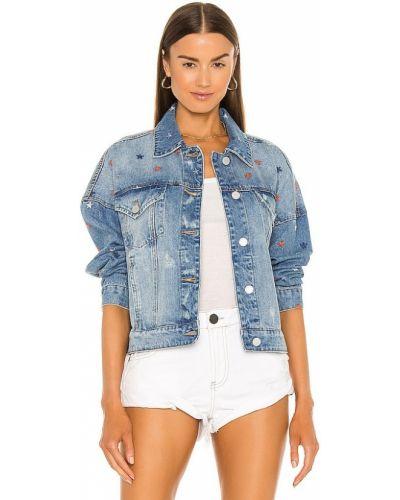 Джинсовая куртка с вышивкой - синяя [blanknyc]