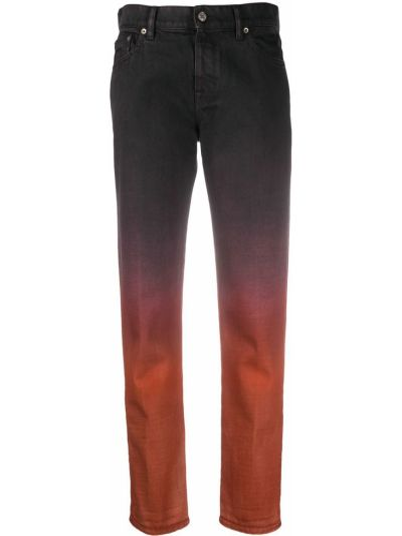 Prosto czarny bawełna jeansy o prostym kroju z kieszeniami Golden Goose