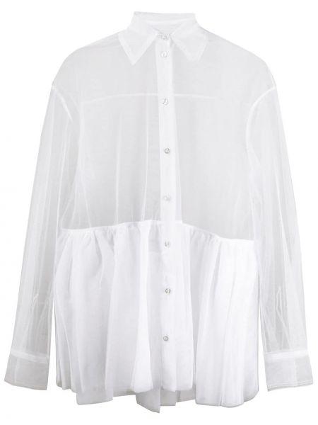 Классическая рубашка белая расклешенная Brognano